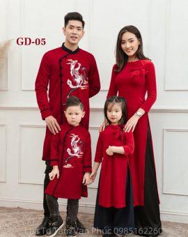 Áo dài Tết gia đình