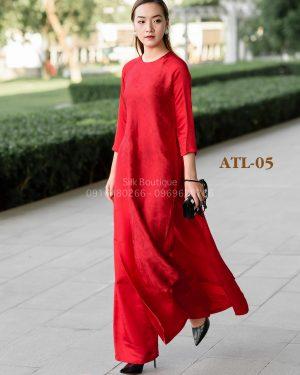 áo dài lụa tơ tằm
