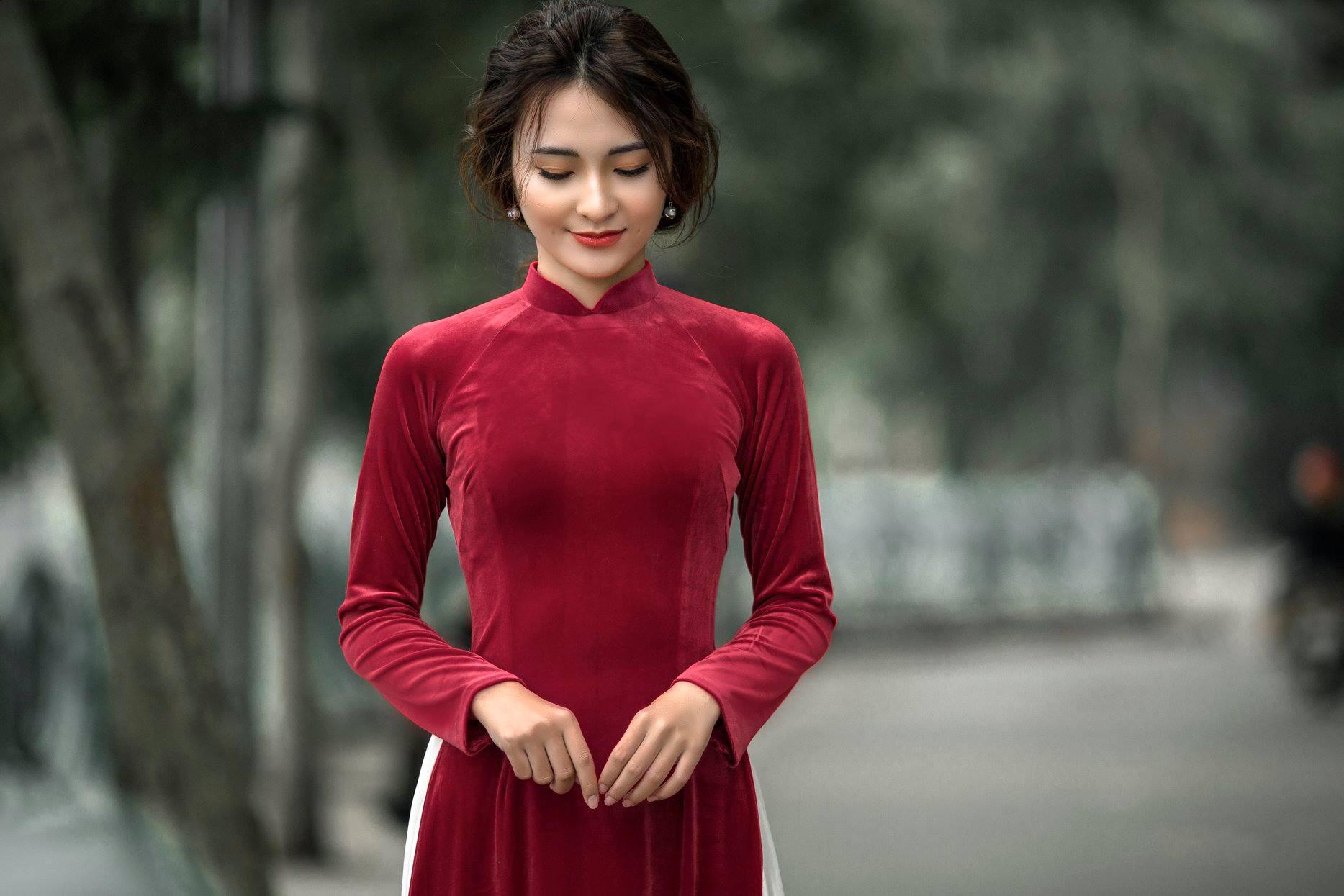 áo dài nhung