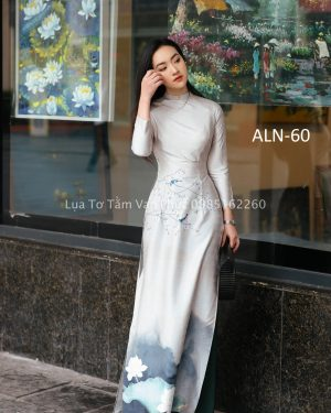Áo Lụa Nhập In Hoa